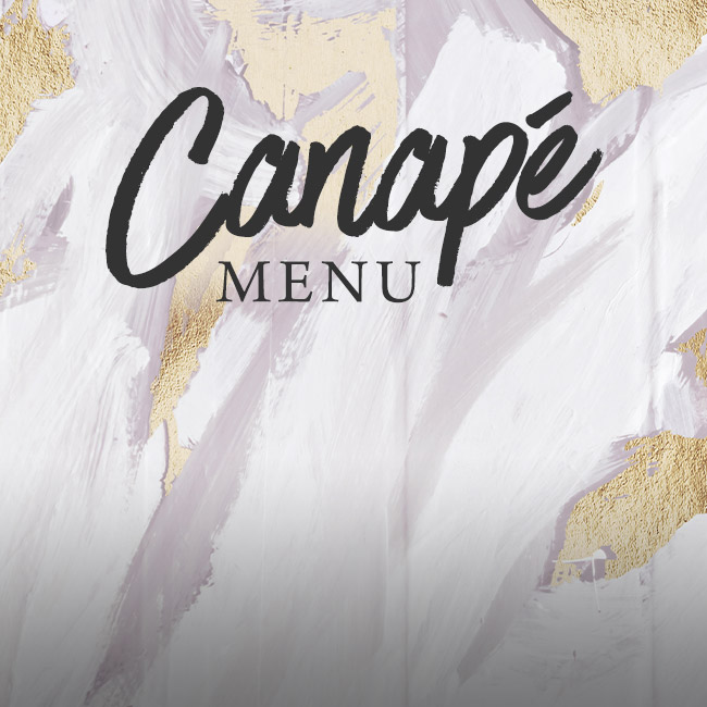 Canapé menu at One Kew Road