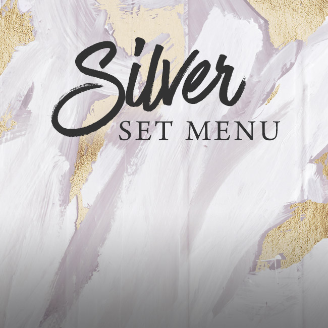 Silver set menu at One Kew Road