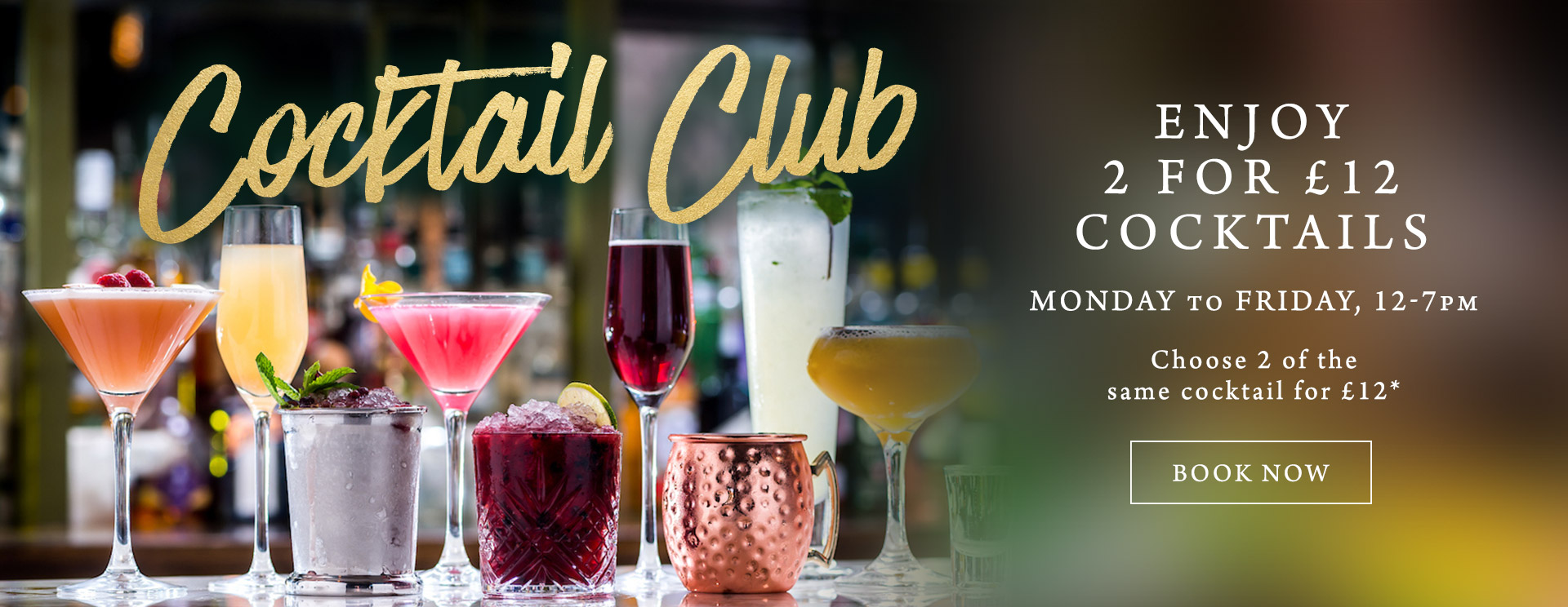 2 for £12 cocktails at One Kew Road